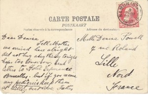 Postcard to Denise Powell from her father