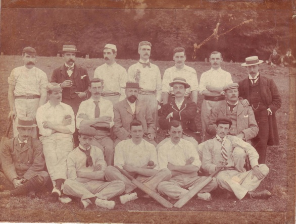 Cricket Club. Frank Moody, back row third from right