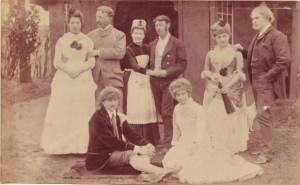 Amateur Dramatics, Arthur Moody seated on left